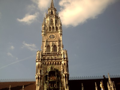 MUNICH  GERMANY  --  New  Town  Hall  tower with  Glockenspiel,