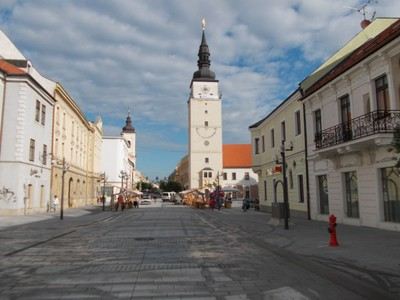TRNAVA,  SLOVAKIA.     --  Mestska Veza,  the  city  tower  in  Trinity  Square.