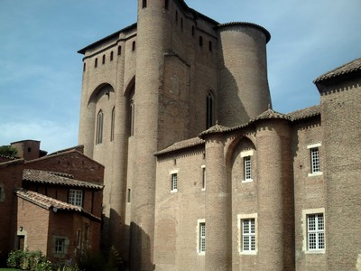ALBI  FRANCE,  --- Palais de  la  Berbie.    former Palace  of  Bishops., now  a  museum.