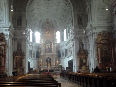 MUNICH,  GERMANY.  --  St  Michaels  church.