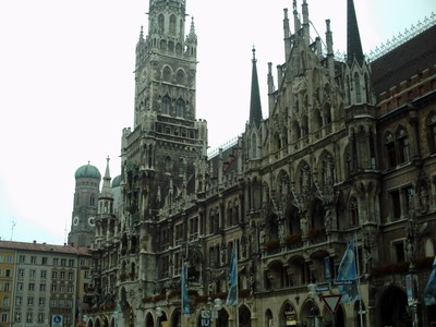 MUNICH,  GERMANY.  -  -  Neues Rathaus.  --New  Town  Hall.