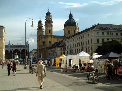 MUNICH,  GERMANY.  Theatine  church  in  Odeonplatz.