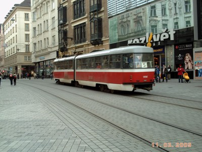 CZECH  BRNO,----    Brno trams started in 1869 ,with horsedrawn trams.   Today stock of over 300 trams.  Most routes seem to go to the rail station.