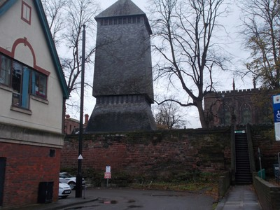 CHESTER.  ADDLESHAW TOWER...is a free standing bell tower of the cathedral. Houses the bells of the cathedral.