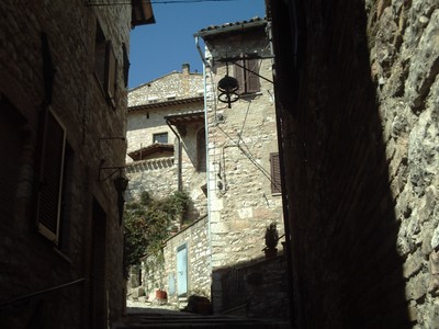 ASSISI  ITALY...Hilly  street.
