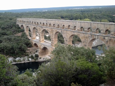 PONT  DU  GARD  AQUEDUCT.   Admission  charge  to  site.