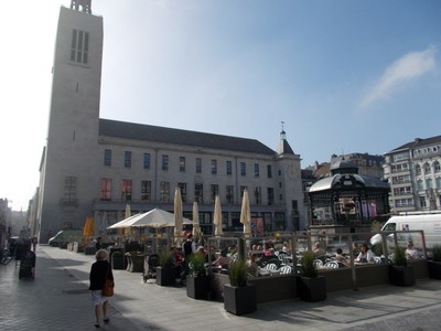 OSTEND  Main Square,with band stand.
