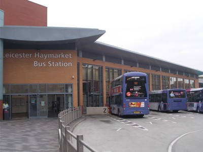 LEICESTER BUS STATION. For bus to Oakham and Uppingham.