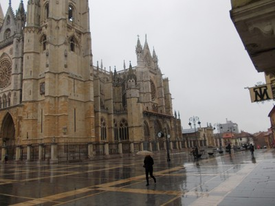 "LEON  SPAIN.   -- "" The  rain  in Spain.  """