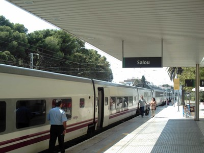 SALOU,  SPAIN.  Train station ,closed as of  Jan  2020.