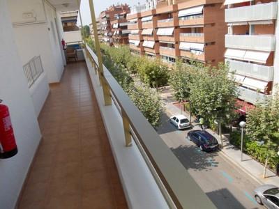 SALOU,  SPAIN.   Hotel  balcony.