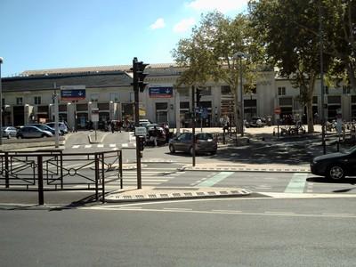 AVIGNON  FRANCE.   Gare D  Avignon Centre.  Rail  station in  centre  near  city  wall  and  main  street,.  TGV  station is  a  short  bus  ride  away.
