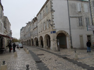 LA  ROCHELLE,  FRANCE.    Old town  arcaded shops.