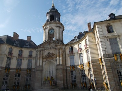 RENNES,  FRANCE.-- City Hall  opened in the year 1734.