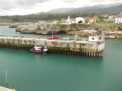 LLANES,  SPAIN.  --   View  from Cubes  of  Memory towards  Lighthouse.