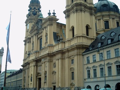 MUNICH  GERMANY.--  Theatine  church  in  Odeonplatz.