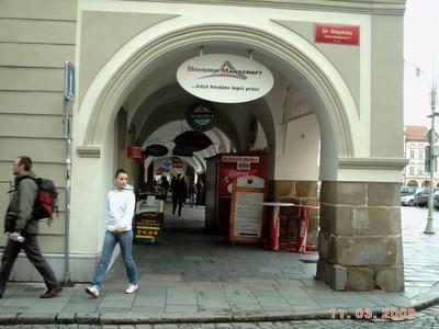 CZECH, CESKY  BUDEJOVICE    Shop arcades.