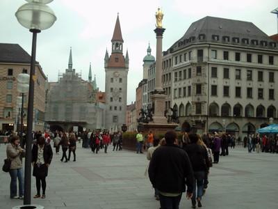 MUNICH  GERMANY.--  Zodiac  clock  tower,  marienplatz.