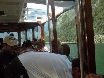 LAKE KONIGSSE  GERMANY.  On  board. -- Lovely  scenery.