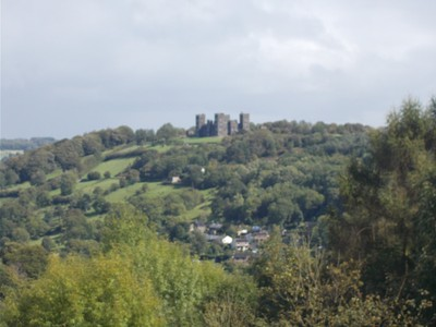 MATLOCK BATH  .View of Riber Castle from Heights of Abraham.