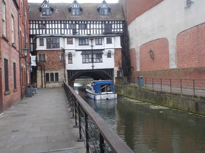 LINCOLN Building on bridge over the river Witham.
