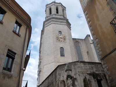 SPAIN  GIRONA.  Tower of Cathedral