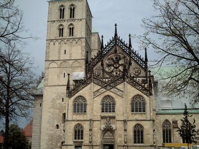MUNSTER,  GERMANY.  St.  Pauls  Dom.    from Dom platz.