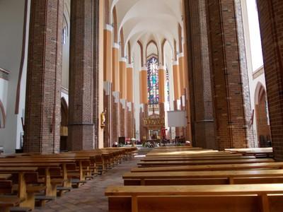 SZCZECIN  POLAND .  Inside Cathedral of St. James.