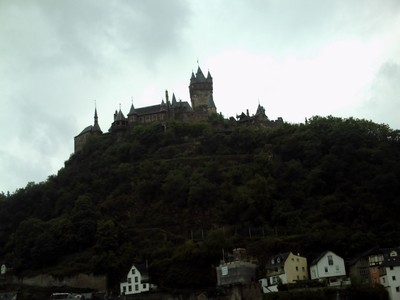 COCHEM  GERMANY.     High above the river , Reichsburg  castle.