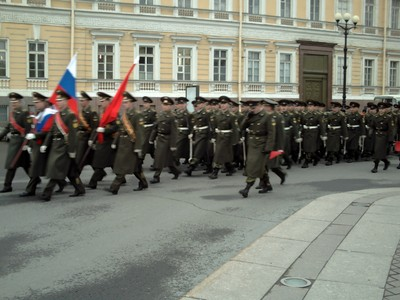 ST.PETERSBURG PRACTICE FOR PARADE.