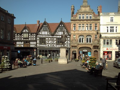 SHREWSBURY  ENGLAND. --  The  Square.