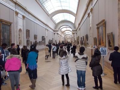 PARIS,  FRANCE --Louvre museum.