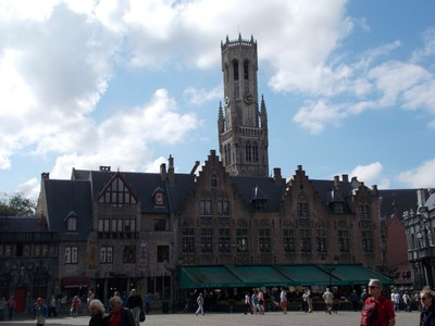 BRUGGE   Belfrey tower in main square.
