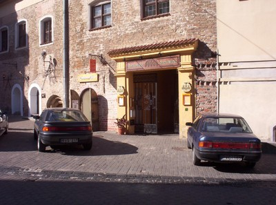 VILNIUS LITHUANIA.  Restaurant, Meal an a beer £3 in 2005.