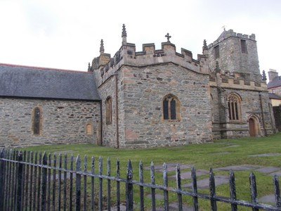 BANGOR  WALES.St. Sybis church, the original church was built on the site of a monastry 540 AD