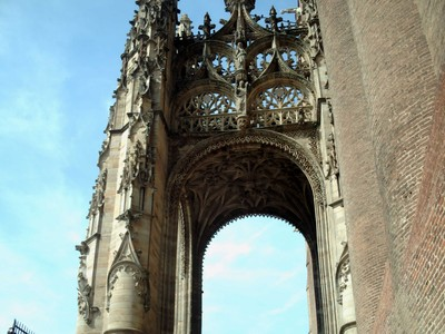 ALBI  FRANCE, --  The  baldaquin of  the  south  Portal.--A canopy of  stone in  a  Christian  church.