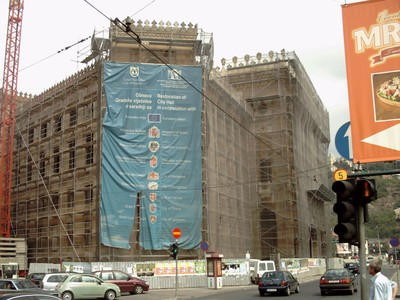 SARAJEVO.  City  Hall..  Restoration was  helped  by  Countries  around  the  world.. including  books  for  library.