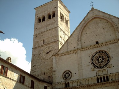 ASSISI,  ITALY.  - Cathedral di San Rufino,  near  the  top  of  the  hill,in  Piazzo San  Rufino.  First  built  in  the  5th  century.