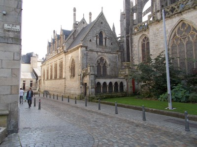 QUIMPER,  FRANCE.   -- Side of Cathedral.