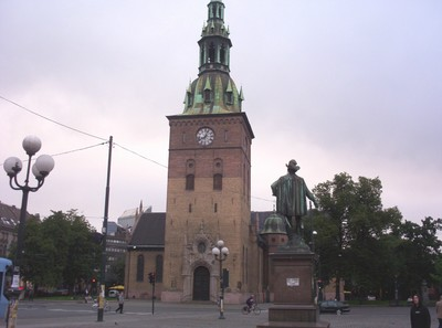 OSLO  NORWAY.  Cathedral Clock Tower.