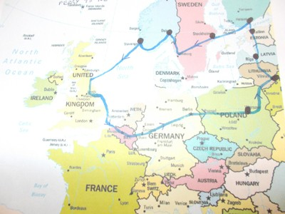 17 DAY HOLIDAY.  First overnight stay in Warsaw,then Vilnius, Riga, Tallinn, Helsinki, Stockholm,Oslo, and Stavanger.