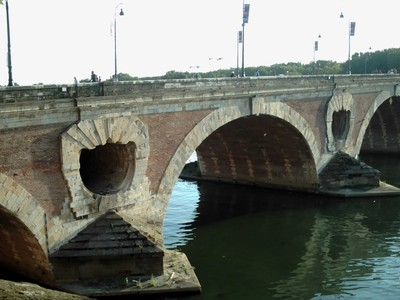TOULOUSE  FRANCE.   -- Pont  Neuf  bridge.   Started  in 1544  completed 1632.AD.