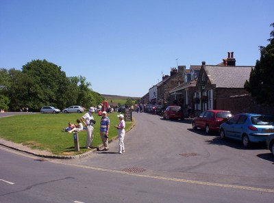 GOATHLAND ,  YORKSHIRE.----Village  street.------There is a Pay & Display  Car  Park in village.