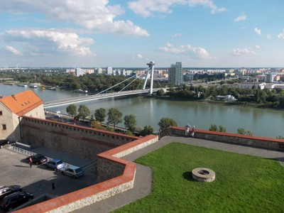BRATISLAVA . Bridge over the River Danube.