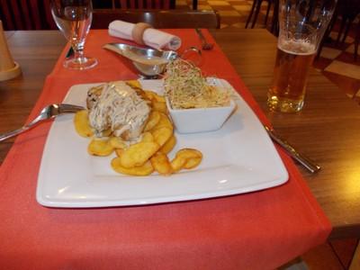 SZCZECIN,......Meal in Ibis Hotel Restuarant.