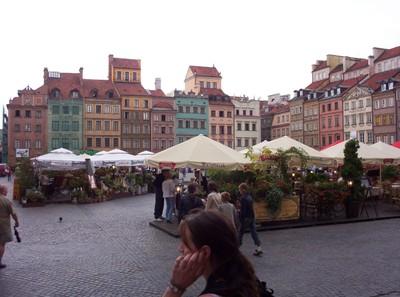 WARSAW POLAND.    Main Square.