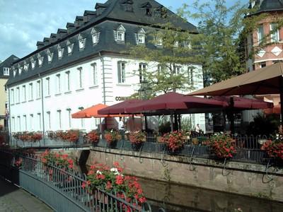 SAARBURG  GERMANY . Flowers everywhere.