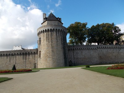 VANNES,  FRANCE.  Tower in city wall.