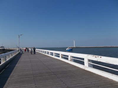 OSTEND. On the wooden pier.