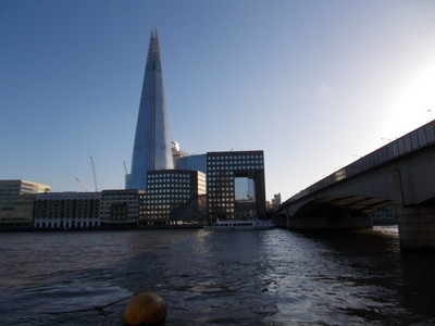 THE  SHARD,  LONDON--  Construction started 2009,  completed 2012  310  metres high, tallest in Western  Europe